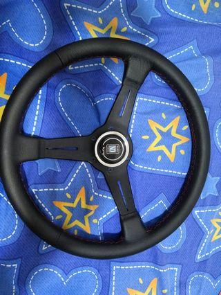 original nardi steering 14'' good condition with new skin