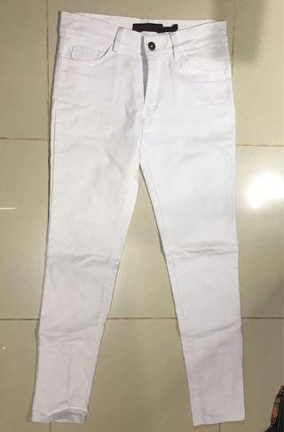 jeans putih (white) - celana panjang putih