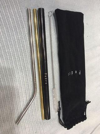 Pedro - Set of 3 Metal Straws
