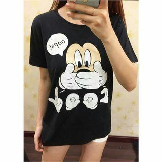 OVERSIZE CUTTON TEE - MICKEY