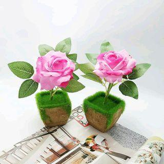 Bonsai Bunga Mawar Artificial