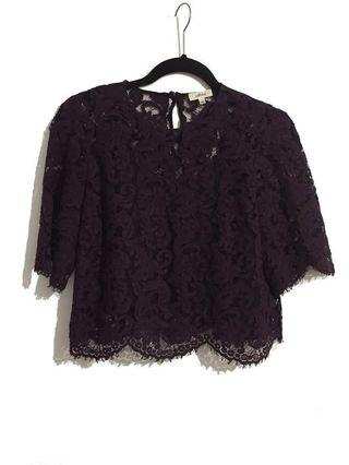 Aritzia Wilfred Lace Blouse S