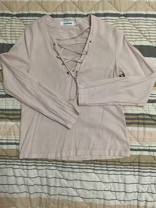 🚚 Long sleeves blouse (The Editor's Market)