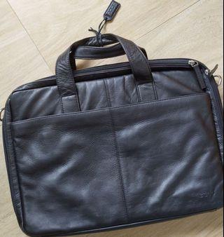 真皮公事包 laptop bag Ecco