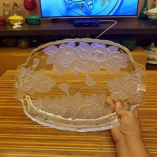 Glass Floral Tray