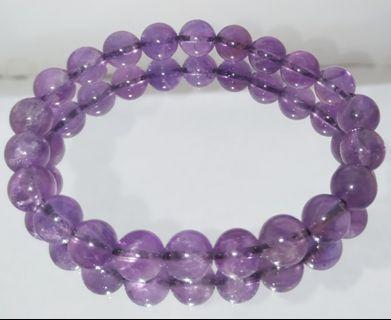 天然水晶 紫水晶手串 Amethyst
