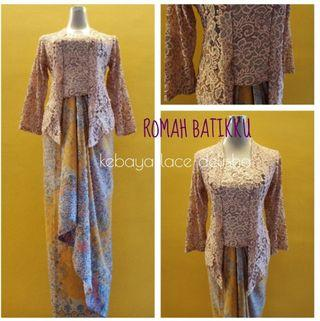 Kebaya Lace Delisha with Pario skirt soft silk