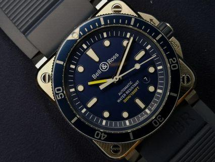 [SOLD] Bell & Ross BR03-92 Blue Diver Automatic