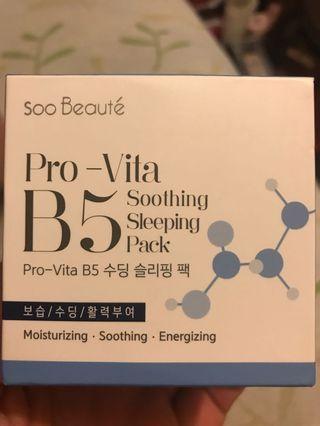 Soo Beauté PRO-Vita B5 Soothing Sleeping Pack B5保濕鎖水屏障睡眠面膜 100 ml