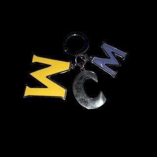 MCM Enamel & Stainless Steel Keychain