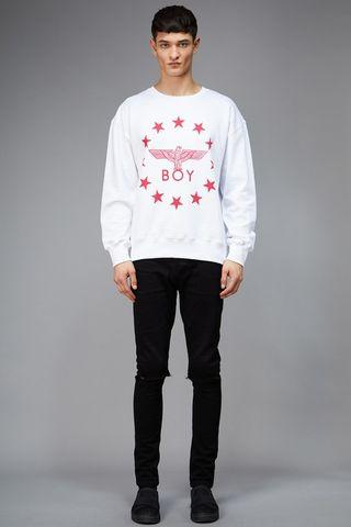 Boy London Globe Star Crewneck