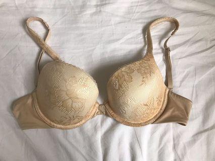 Nude padded bra (32C)