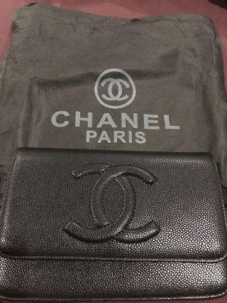 Chanel CC WOC ( black) caviar skin