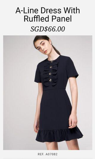 #EndgameYourExcess Nego for fast deal <BNWT> Saturday Club A-line Dress with Ruffled Panel