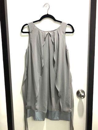 Grey Dress (free size)