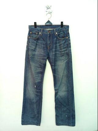 🚚 31腰 Levi's 523 藍色刷紋 直筒牛仔褲