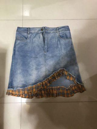 🈹️全新韓國牛仔裙🈹️為求盡快清,如多買一條短裙各減$10或共買三條只售$100