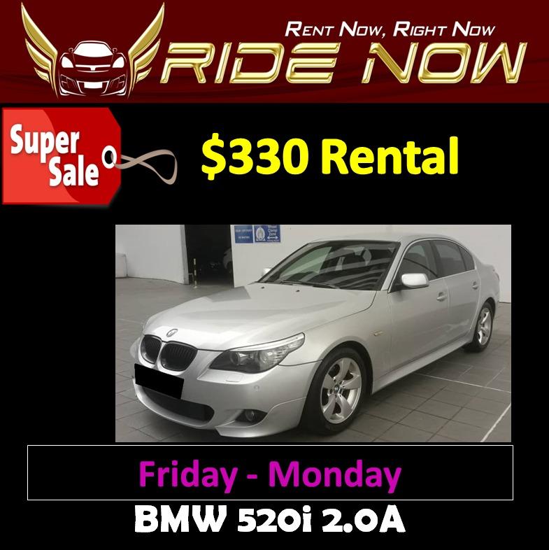 330 bmw 520i 2 0a weekend car rental cars vehicle rentals on rh sg carousell com