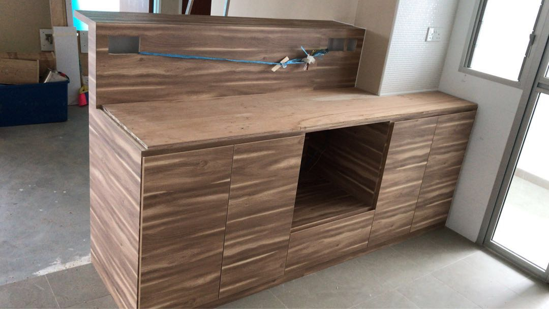 7 Ft Kitchen Bar Top Style With Quartz Top Home Services