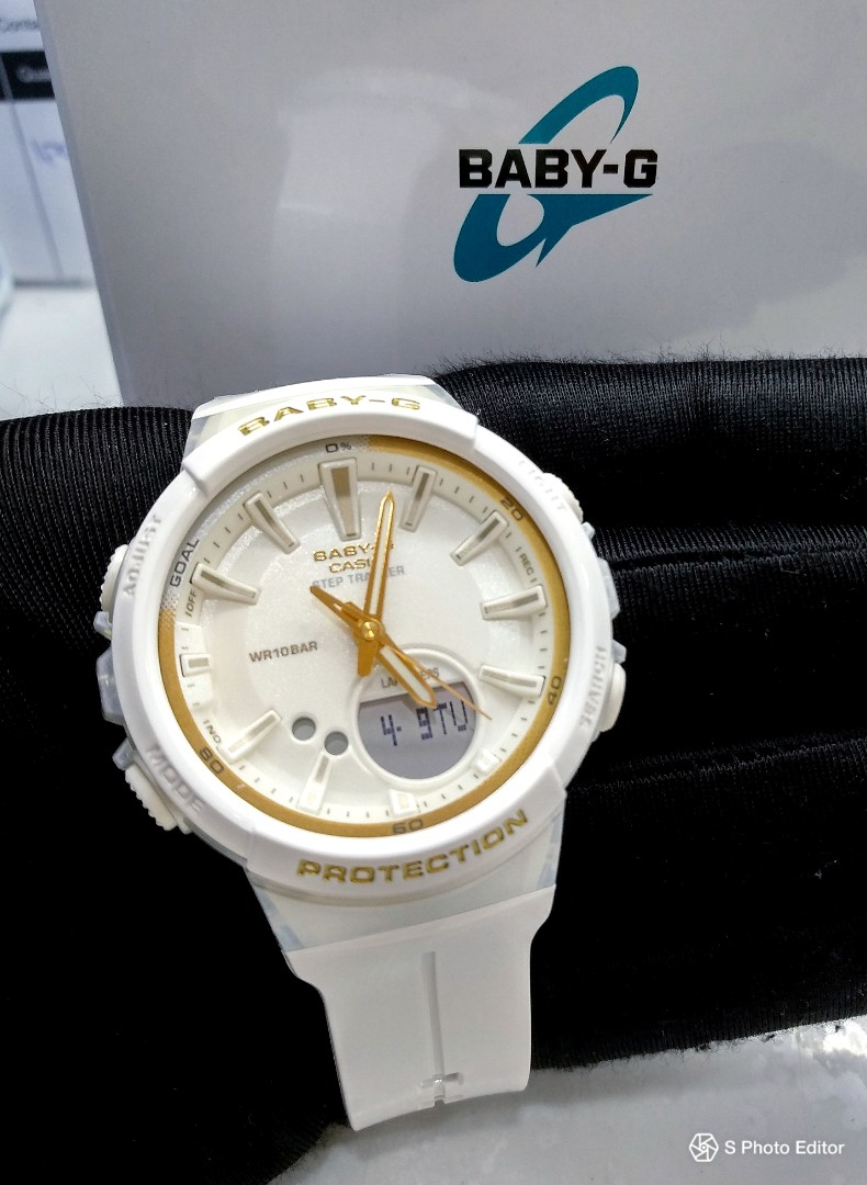 6570e9ab81 * FREE DELIVERY * Brand New 100% Authentic Casio BabyG White Gold Step  Tracker Lady's Outdoor Watch BGS-100GS-7ADR BGS100 BGS100GS