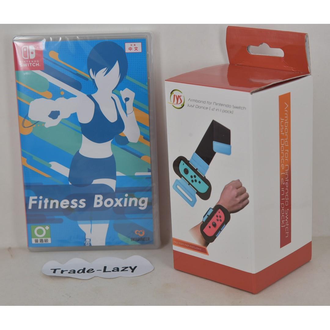 (全新) NS Switch Fitness Boxing 健身拳擊 (行貨, 中文/ 英文/ 日文) + Armband 運動臂帶-與 Ring Fit Aventure wii fit 一樣可減肥健身