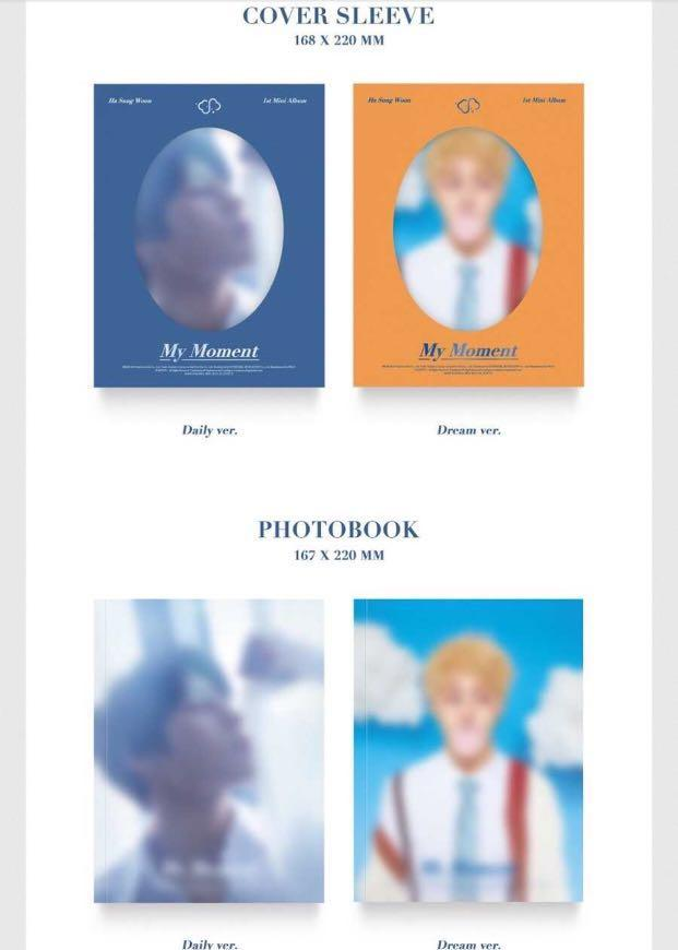 . [PO] (SET) HA SUNG WOON (1st solo mini Album)- My Moment