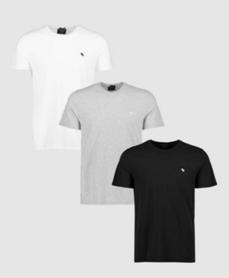 Abercrombie & Fitch Crew T multi pack