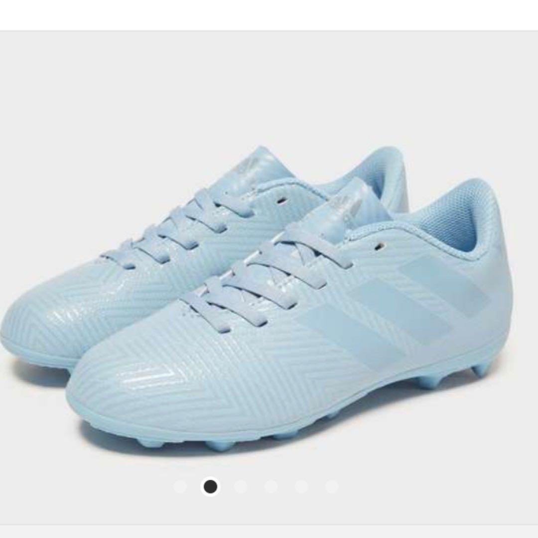 610066b7412 Adidas Nemeziz Messi 18.4 Junior FG Football Boots (Ash Blue   Size ...