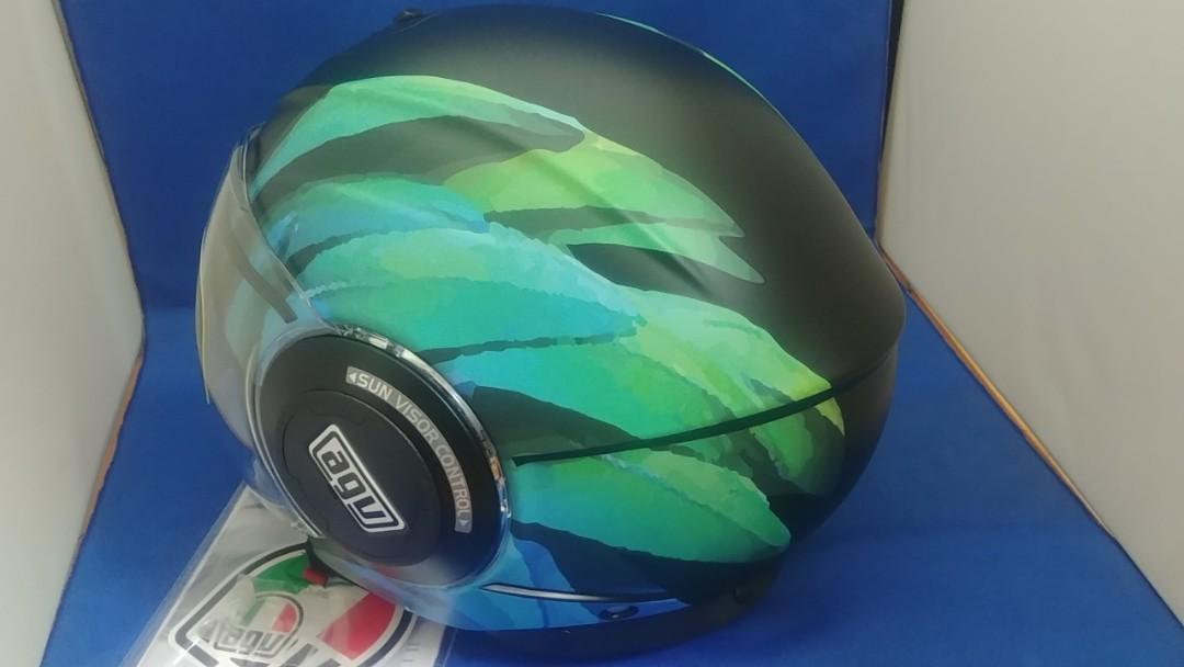 agv 開面 電單車 頭盔 大碼 59-60CM  motorcycle helmet 現貨 長風鏡 內帶小太陽鏡