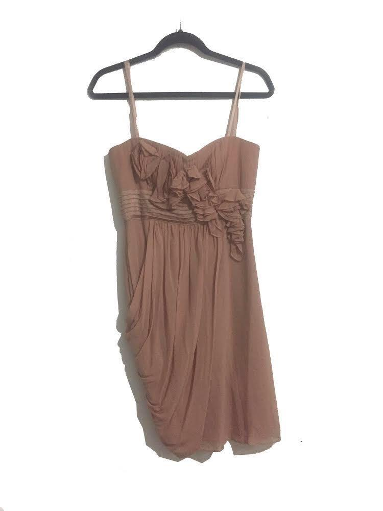 BCBG Strapless Silk Dress