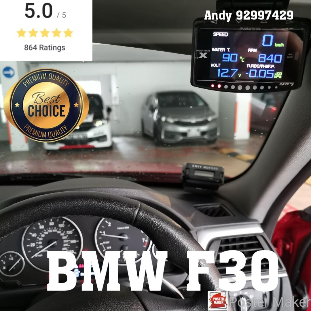 BMW F30 Lufi X1 Revolution OBD OBD2 Gauge Meter display, Car