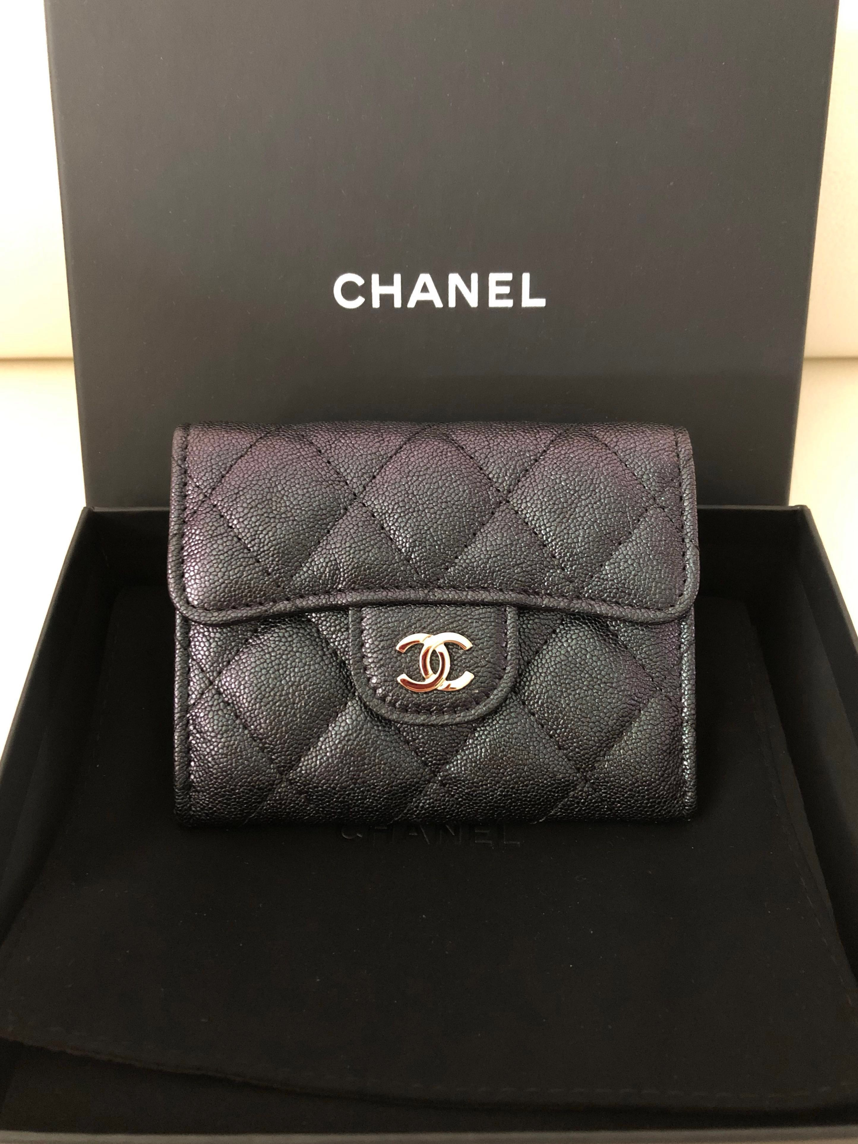 e2461aabb9a1 Chanel XL cardholder Iridescent Caviar 🌈🌈 🦄 🦄🦄🦄🦄, Luxury, Bags &  Wallets, Wallets on Carousell