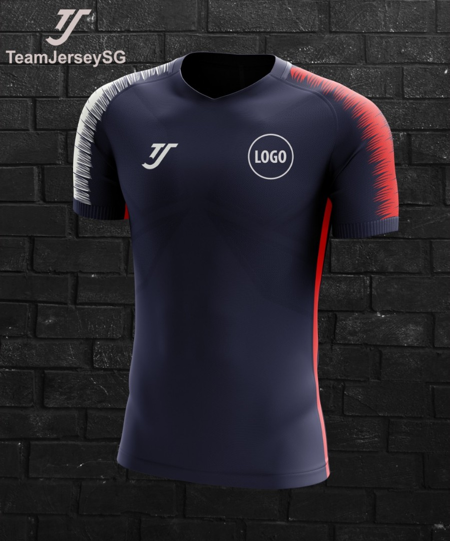 80b20a4d994 Custom team soccer jersey - TJ (free printing) navy red white ...