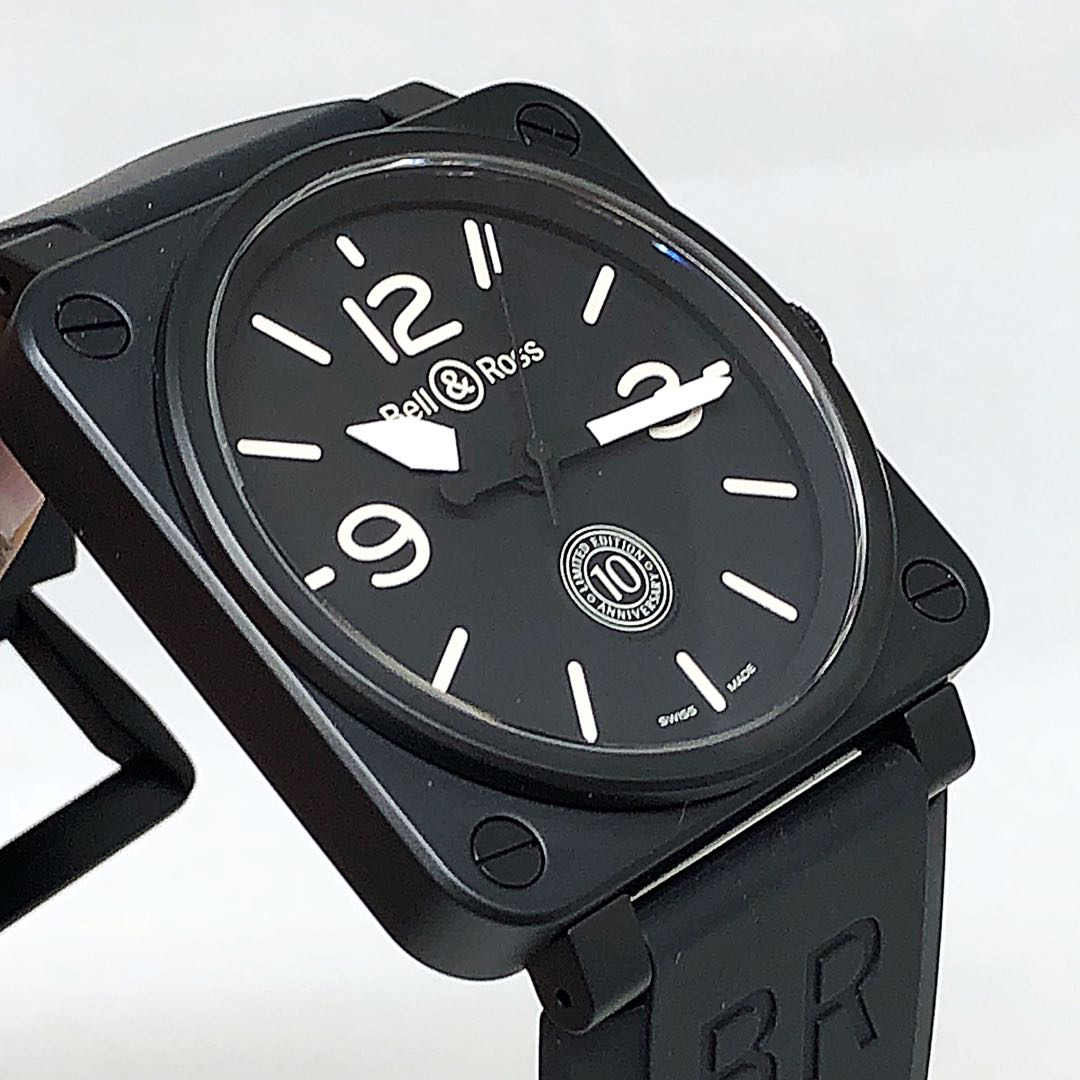 FS.BNIB BELL AND ROSS 10 ANNIVERSARY BR01-92 AUTOMATIC CERAMIC 46MM LIMITED EDITION WATCH BR0192-10TH-CE
