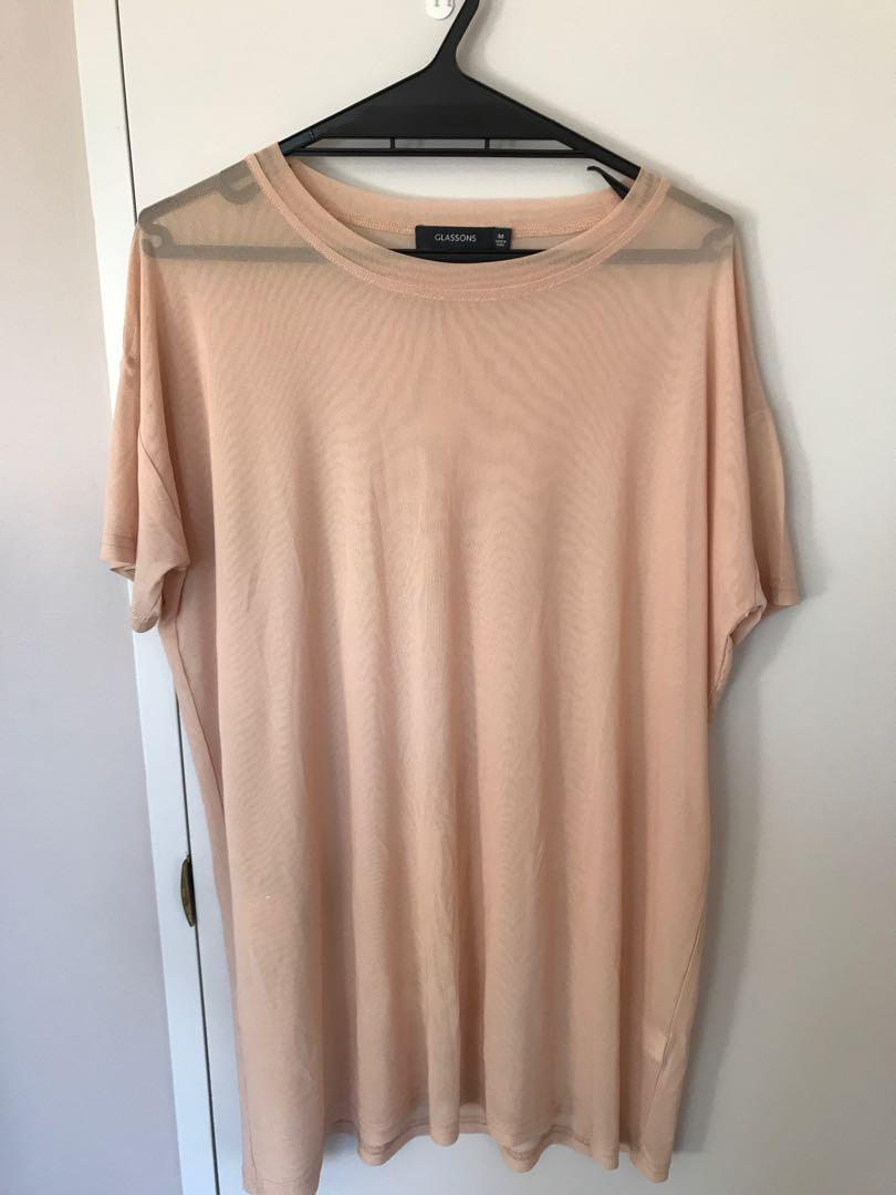 Glassons Oversized Mesh Top