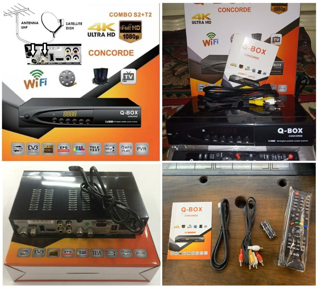 HDTV S2T2 COMBO IPTV & WIFI RECEIVER TVBOX for Freeview IKS Cccam PowerVu
