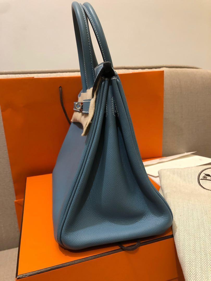 c9ebec0e0b9c Hermes Birkin 30 Blue Jean Epsom