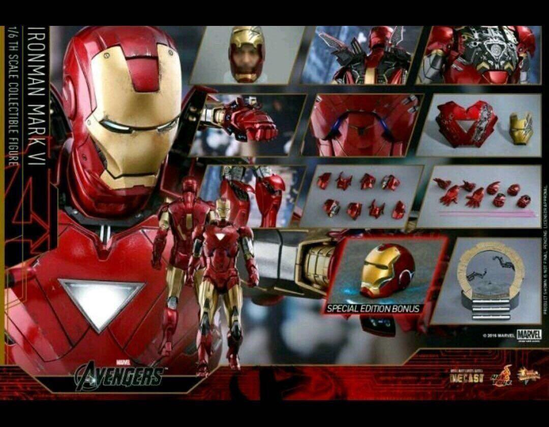 Hottoys Ironman Diecast Mark VI Mark 6  Special Edition MMS378D Iron Man Hot Toys