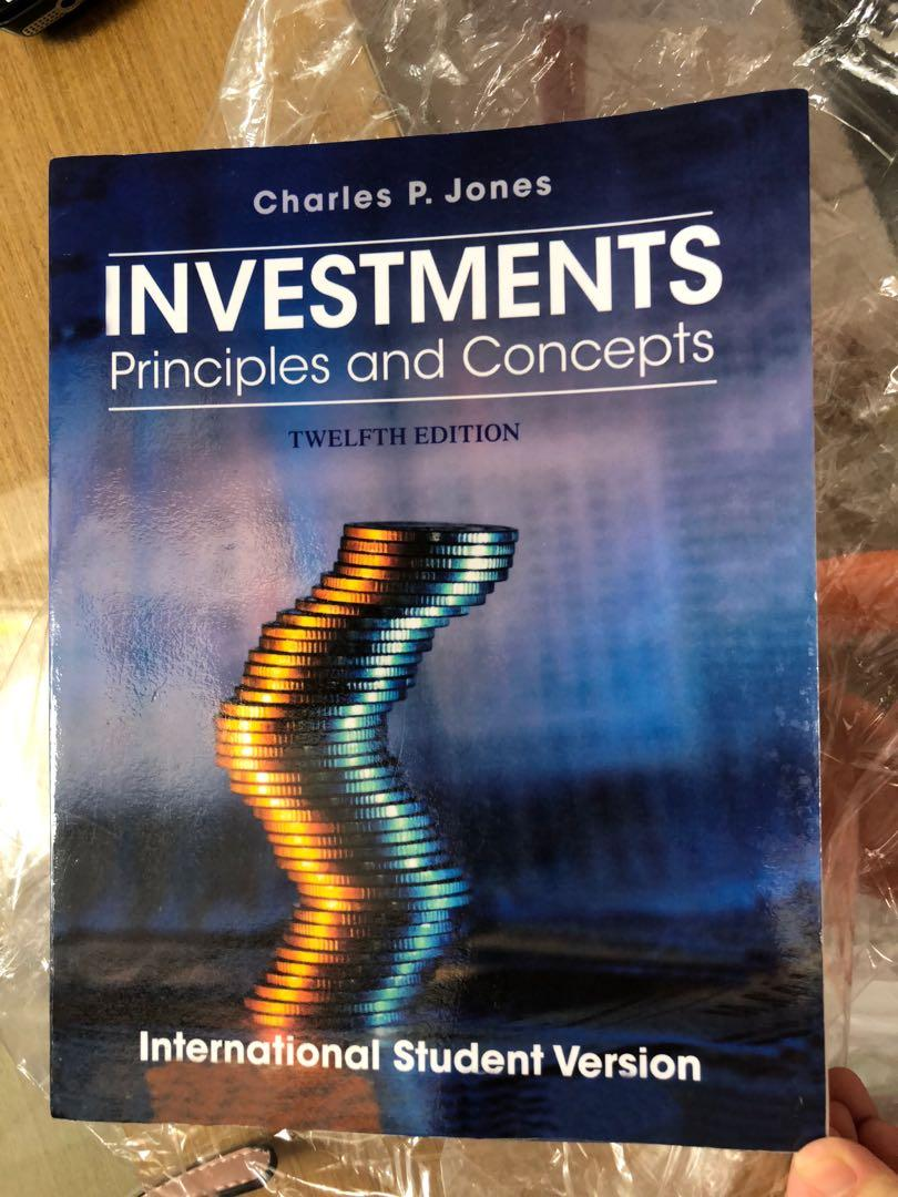 Investment principles and concepts (jones)