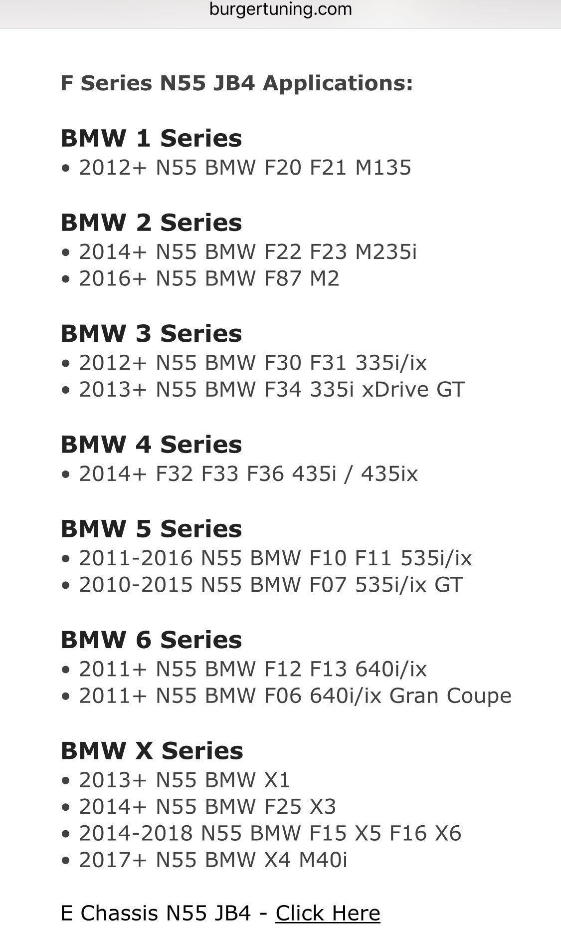 JB4 N55 (EWG) F Series (Stage 2)