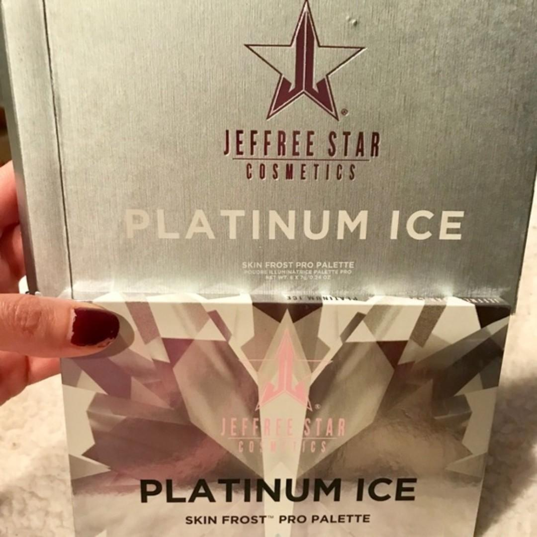 Jeffree Star Cosmetics Skin Frost Platinum Ice Pro Palette NEW & AUTHENTIC (PRICE IS FIRM, NO SWAPS
