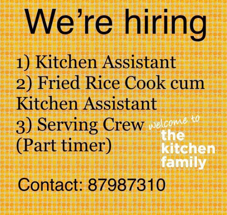 Kitchen Assistant / Fried Rice Cook / Serving Crew