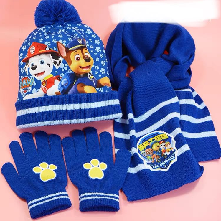 558177377 Little Paw Patrol Winter Kid Set - 5R2 Per set contain of Glove, Hat n  Scarf Suitable for 2-10yo Design: as attaché photo