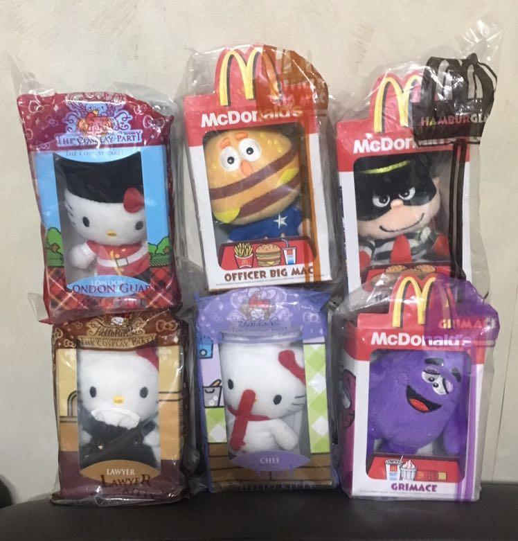 McDonald's 麥當勞公仔 Hello Kitty  滑嘟嘟 漢堡神偷 巨無霸主任