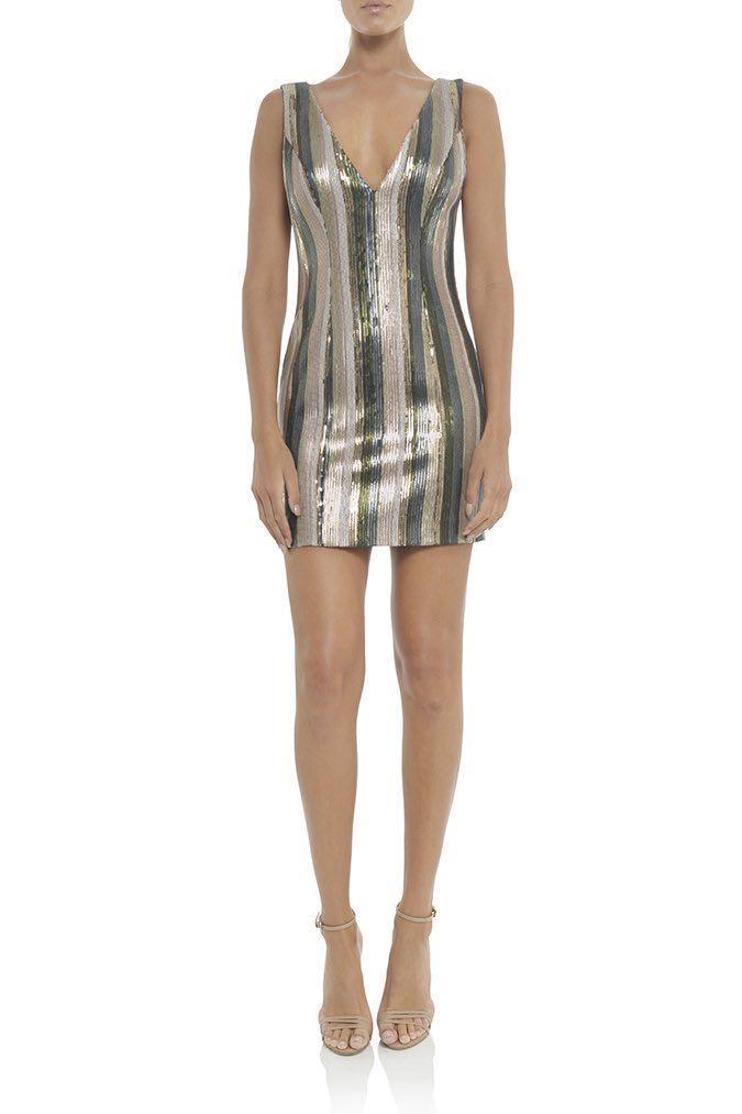 Misha Collection Lillian Sequin Mini Dress RRP $380