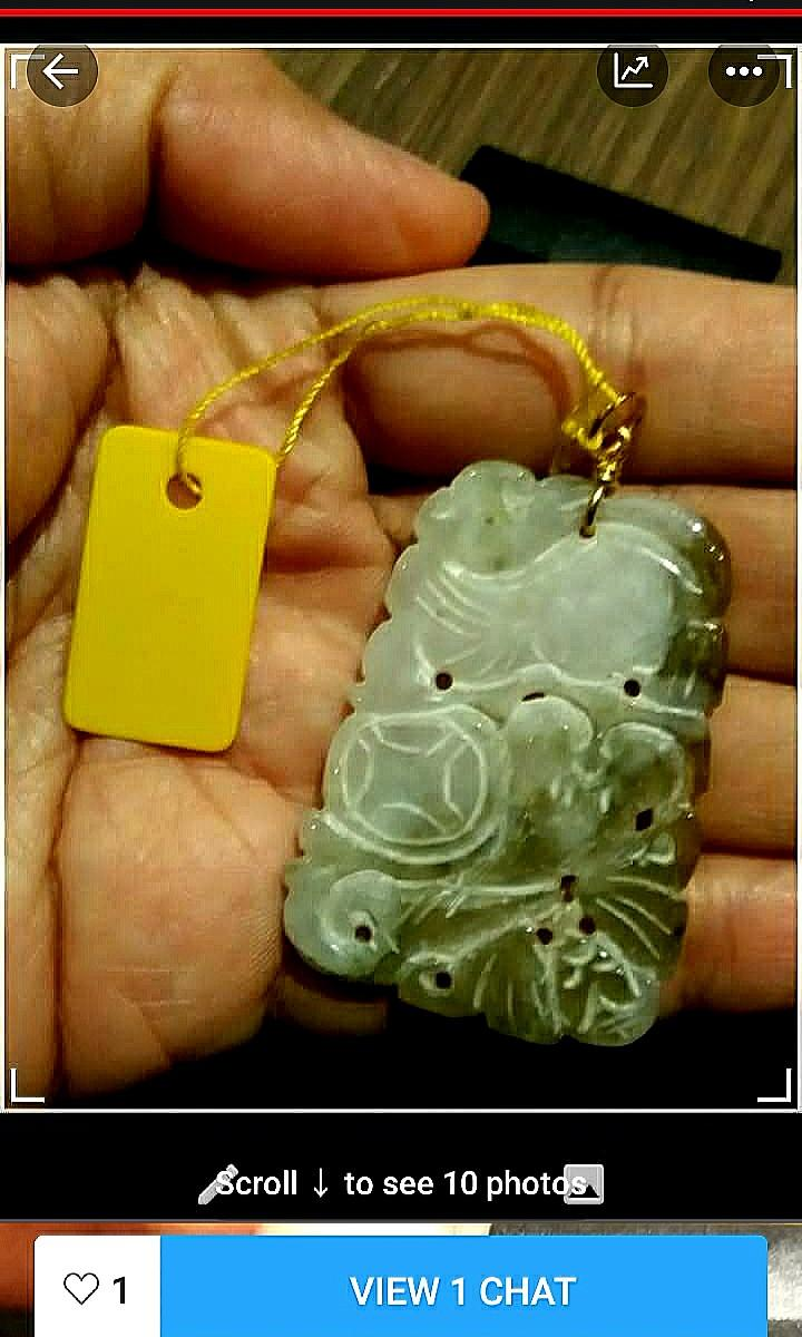 🎁🎖50% Discount & Free Gift for Mother's & Father's Days!! 100% Natural Burmese Jadeite A Pendant.  More than 40 Yrs Old Mine Rare Pendant! All Pieces are of Good Quality and Unique Carving on Both Sides. Except the God & Goddess Pendants!