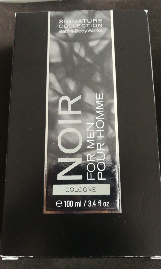 Noir pour homme signature collection bath and bodyworks 100ml