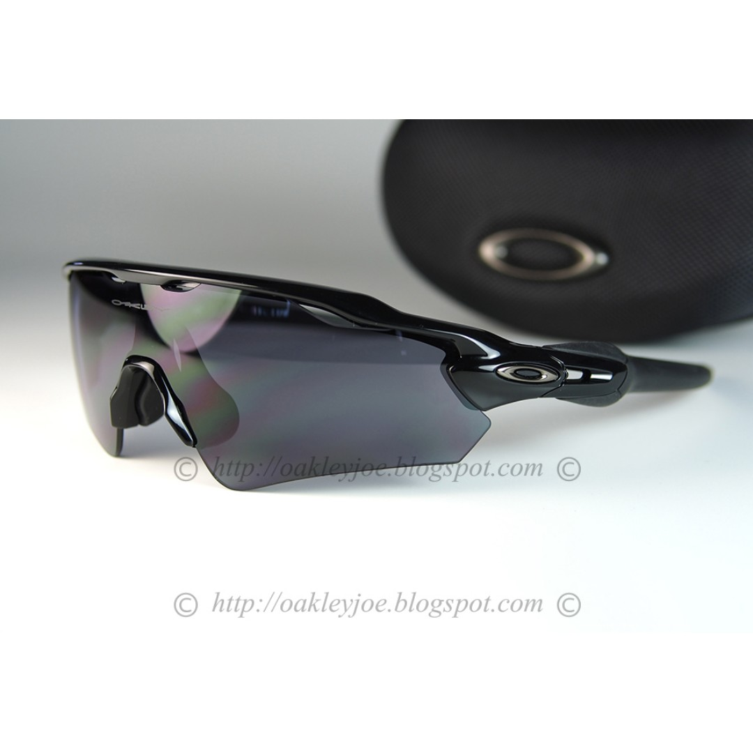 d5f75bc03d37 Oakley Custom Radar EV Asian Fit polished black + grey sunglass ...