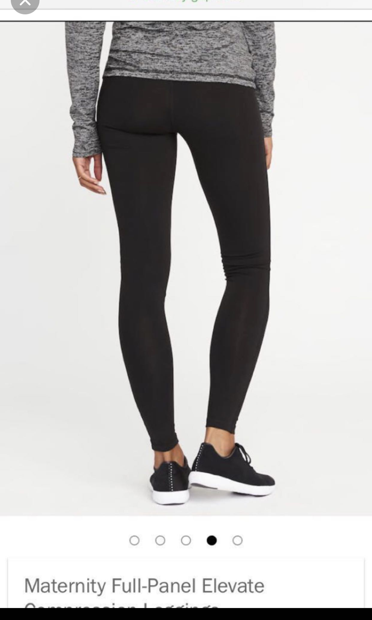 b021741b72906a Old navy Maternity black active sports compression leggings xs ...