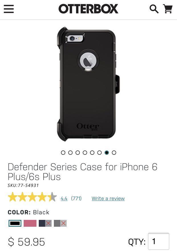 Otter Box Defender Series Case for iPhone 6 Plus/6s Plus
